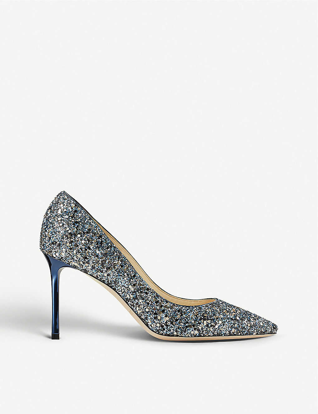 fb1fa400fa7c JIMMY CHOO - Romy 85 coarse glitter courts