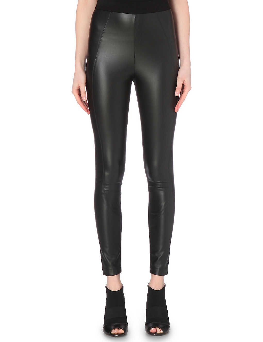 acf66f5187 KAREN MILLEN - High-waisted faux-leather leggings | Selfridges.com
