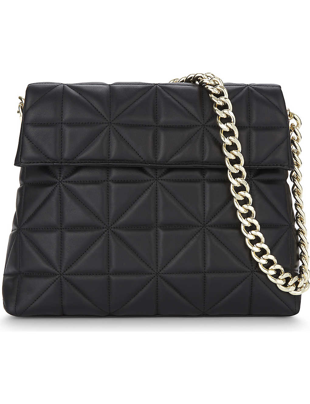 846832a0f49 KAREN MILLEN - Regent quilted leather shoulder bag | Selfridges.com