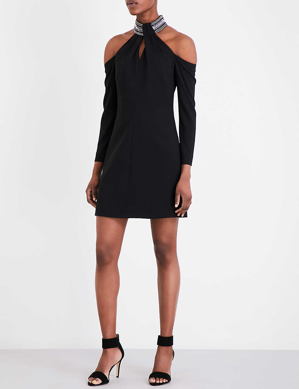 124dff3851f KAREN MILLEN - Jewelled neckline crepe dress | Selfridges.com