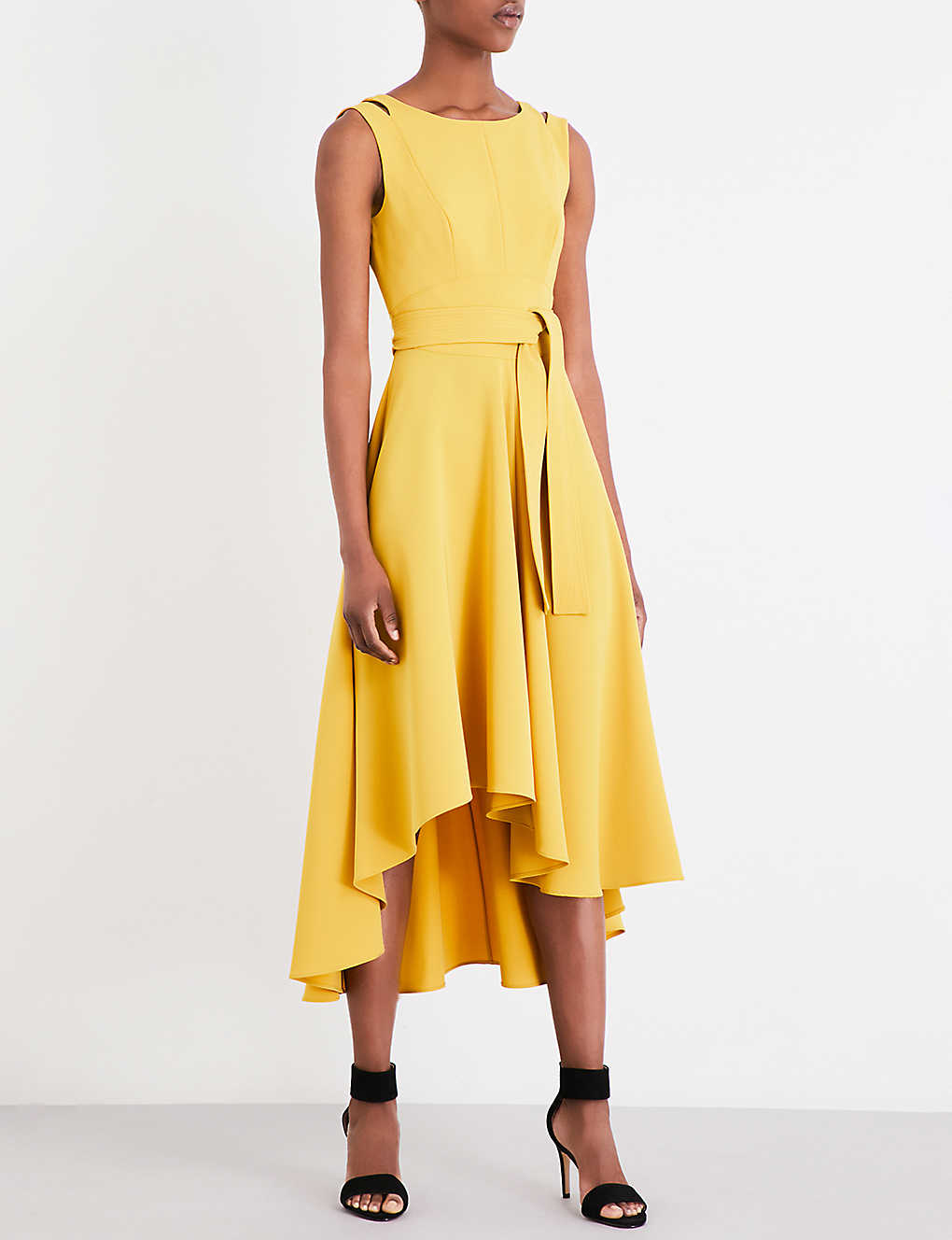 660ae9085cc KAREN MILLEN - Fluid crepe midi dress | Selfridges.com