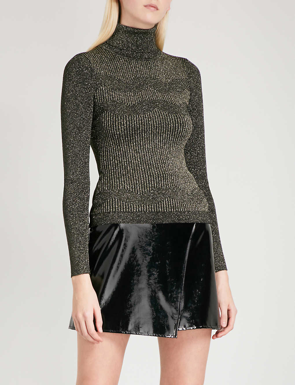 34b231bb6cc KAREN MILLEN - Turtleneck metallic-knit jumper | Selfridges.com