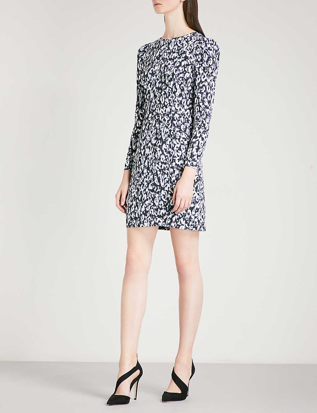 0bce2824e3b3 KAREN MILLEN - Leopard-print woven pencil dress | Selfridges.com