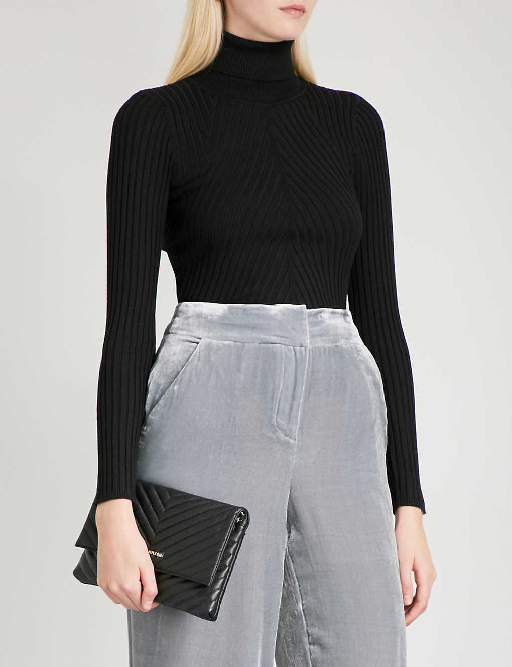 a237a1a3659 KAREN MILLEN - Ribbed-knit turtleneck jumper | Selfridges.com