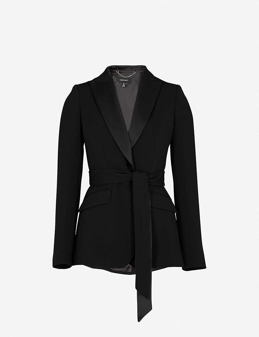 fb86d7a5dd Belted crepe jacket zoom; Belted crepe jacket zoom ...
