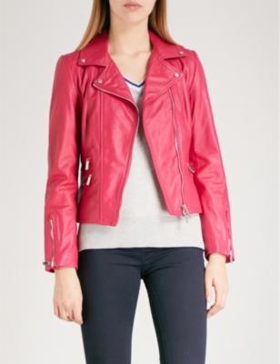 01eb679e8 KAREN MILLEN - Leather biker jacket | Selfridges.com