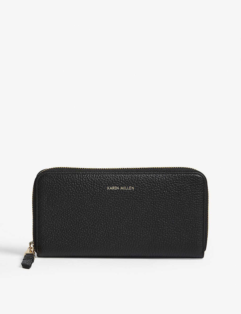 0b4ba04b8f5 KAREN MILLEN - Logo zip-around leather purse | Selfridges.com