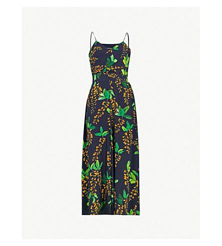 1bdd0a9bf200 KAREN MILLEN - Wisteria-print wide-leg silk jumpsuit