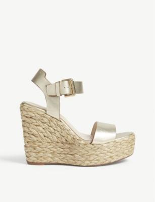 e2e59d334a3 KAREN MILLEN - Espadrille wedge heels | Selfridges.com
