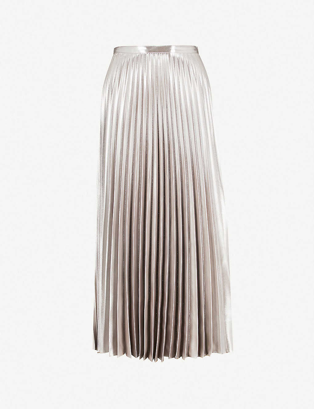 805deb93ae Metallic pleated skirt zoom; Metallic pleated skirt zoom ...
