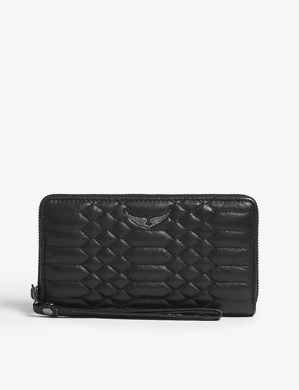 b25707040f48 KAREN MILLEN - Suede leather clutch bag | Selfridges.com