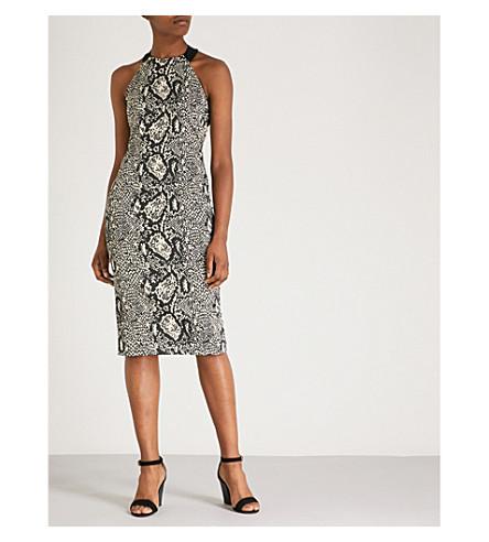 Karen Millen Snake-print stretch dress