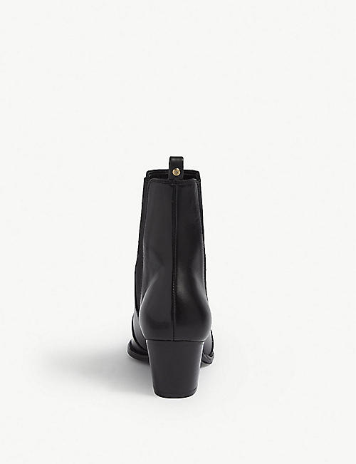 KAREN MILLEN FD102 leather ankle boots