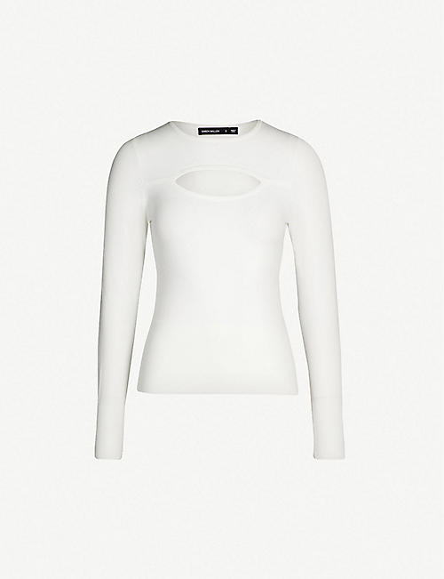 e9af78a6dd15 KAREN MILLEN - Cutout stretch-knit jumper