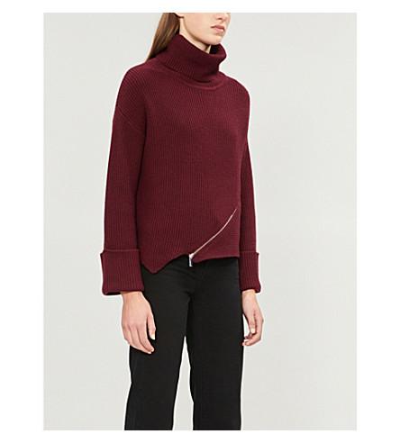 Karen Millen Zipper-detail knitted sweater