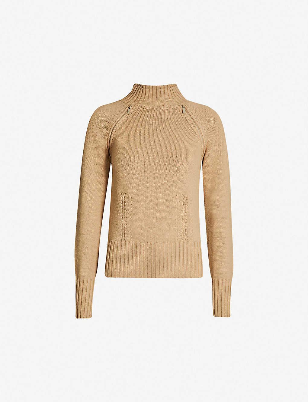 679b2e669b9 KAREN MILLEN - High-neck zip-detail knitted jumper | Selfridges.com