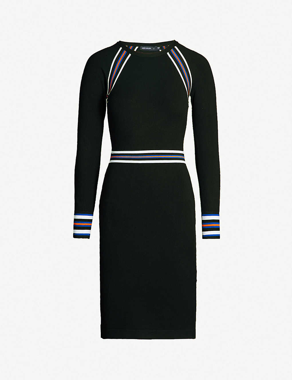 7ace1c393b KAREN MILLEN - Sporty-striped stretch-knit bodycon dress ...
