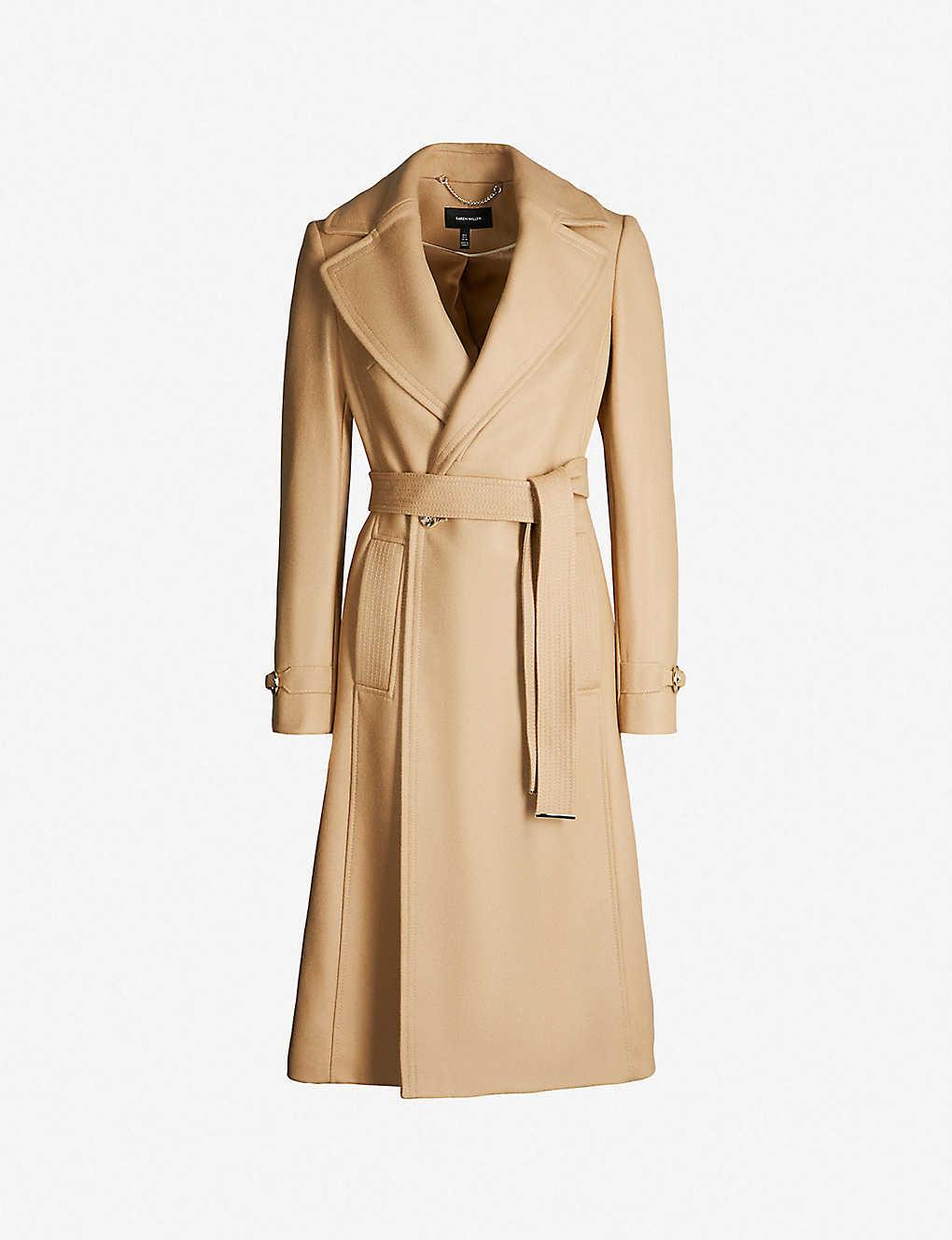 232200fed14 KAREN MILLEN - Wrap-over wool-blend coat | Selfridges.com