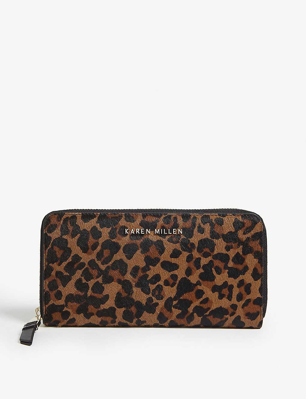 15ab423bf8f KAREN MILLEN - Leopard spot ponyhair purse | Selfridges.com