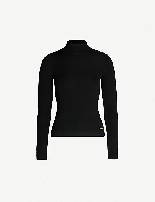 f60993bd5885 KAREN MILLEN High-neck merino wool sweater