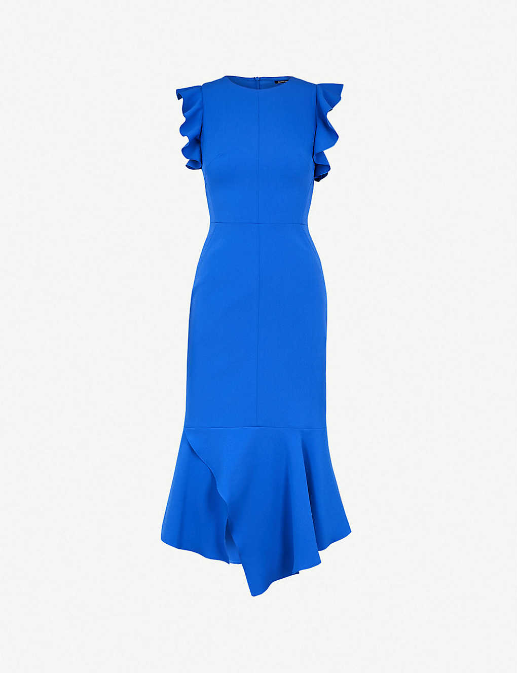 70608e433cf KAREN MILLEN - Ruffle fit-and-flare crepe midi dress | Selfridges.com