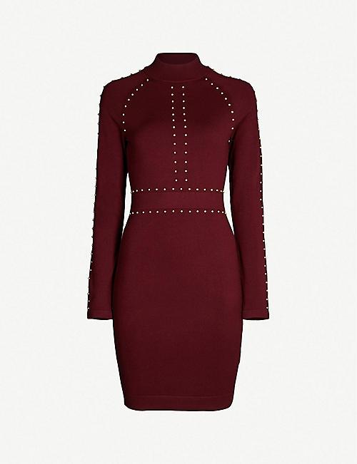 9794f20f2ab0 KAREN MILLEN Stud-embellished stretch-knit dress