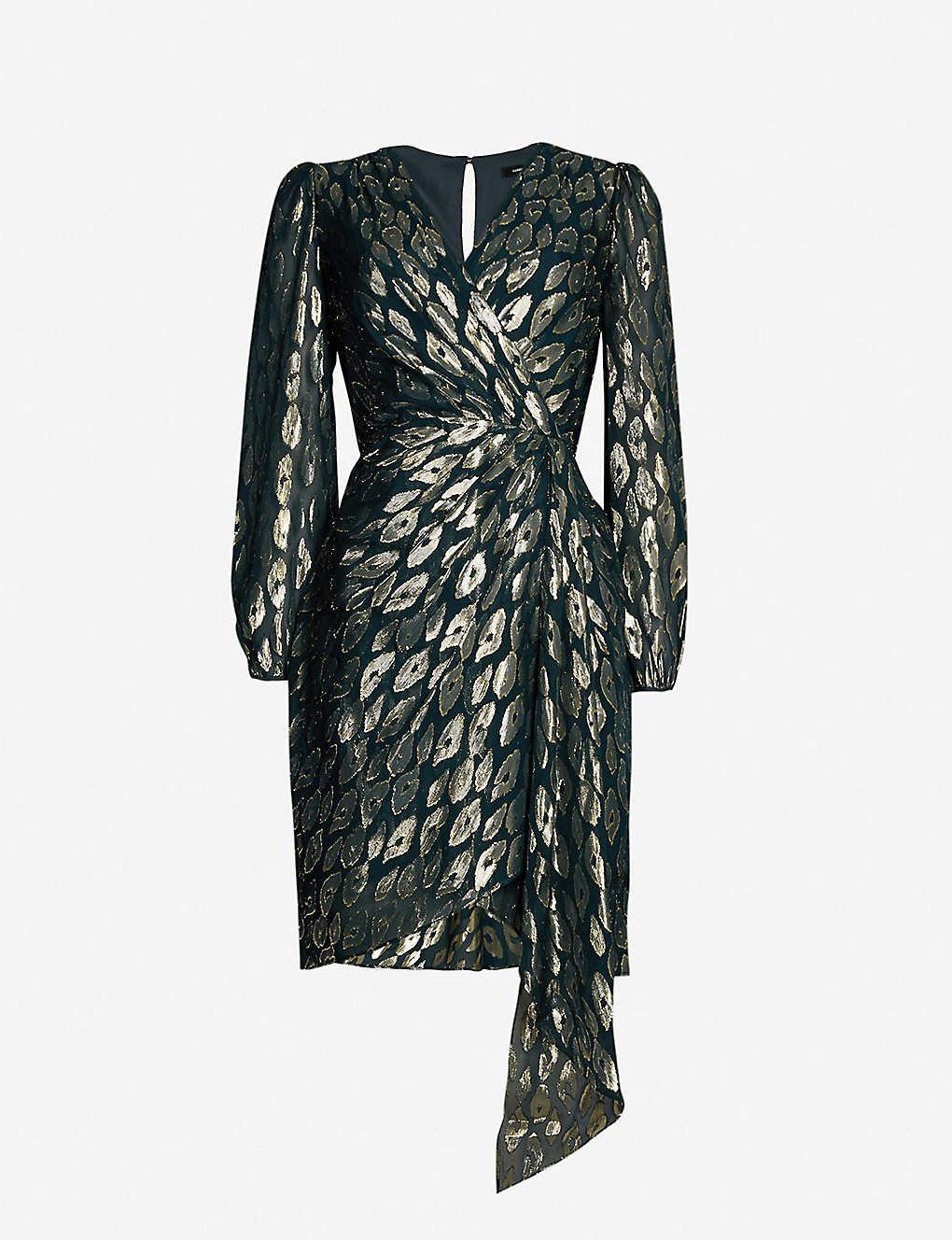 fb5a6e2de8b17 KAREN MILLEN - Metallic animal-print dress   Selfridges.com