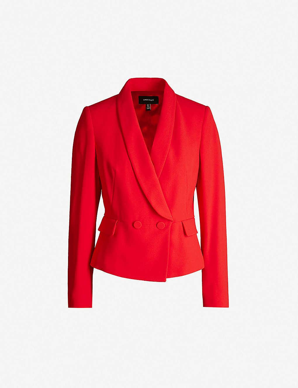 aa87dd3865 KAREN MILLEN - Waist Emphasis crepe jacket   Selfridges.com