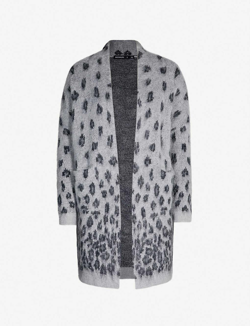2c5297c824d1 KAREN MILLEN - Brushed leopard-print knitted cardigan   Selfridges.com