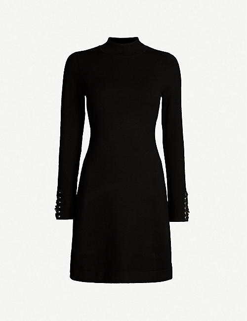 86bf0dfaeed KAREN MILLEN Lace-up chain-embellished knitted dress
