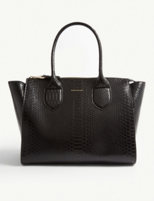 KAREN MILLEN Croc-embossed shoulder bag