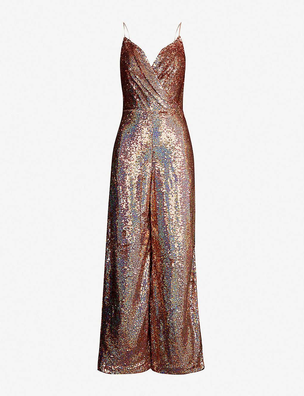 483cc26cae KAREN MILLEN - Sequin-embellished wrapover-style jumpsuit ...