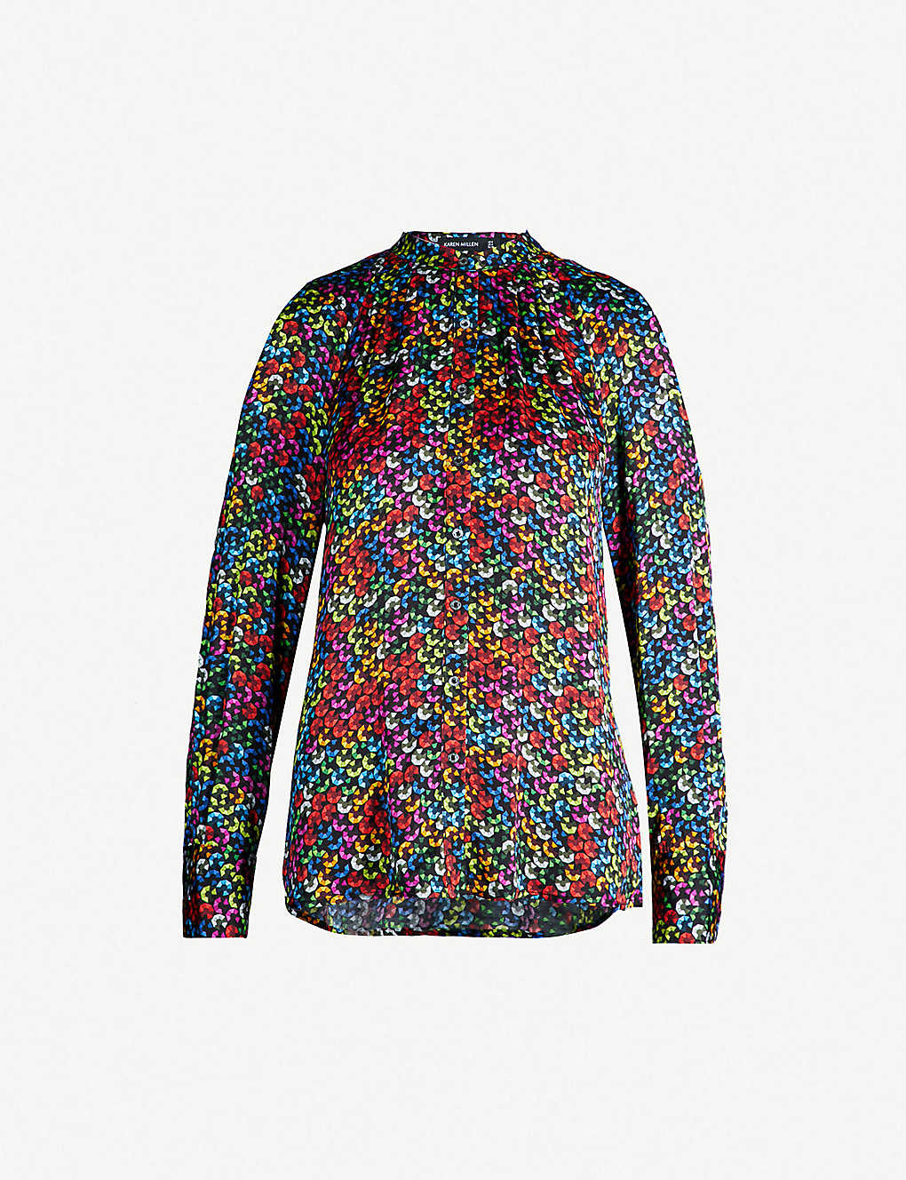e4a3f65f35 Sequin-print poplin shirt