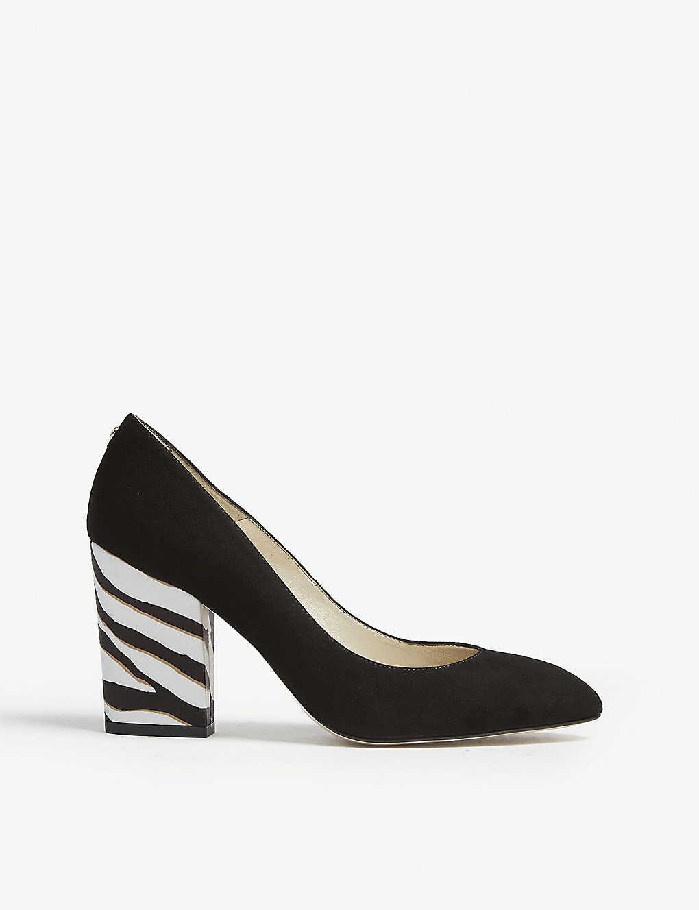7df1766b04 KAREN MILLEN - Animal suede block heel pumps | Selfridges.com