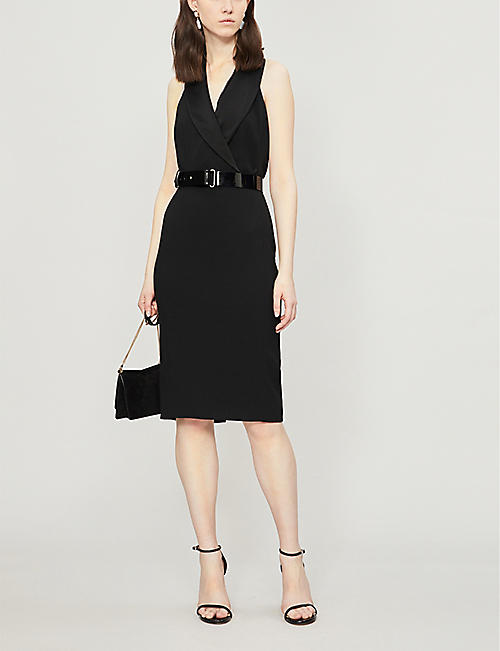 KAREN MILLEN Halterneck crepe dress
