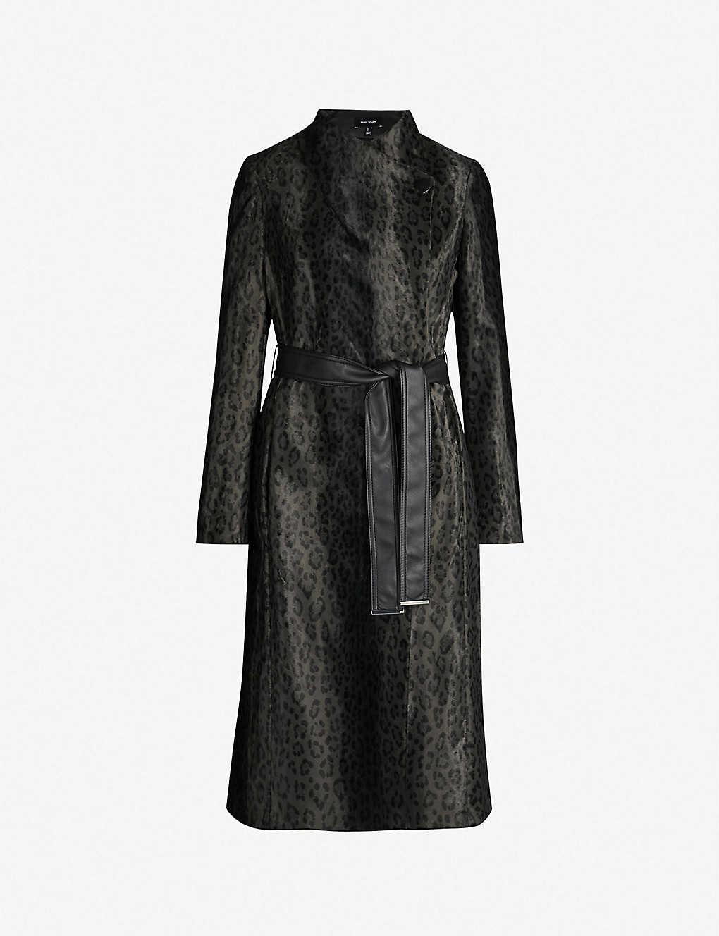 0dd7ec4d8950 KAREN MILLEN - Leopard-print tailored wrap coat | Selfridges.com