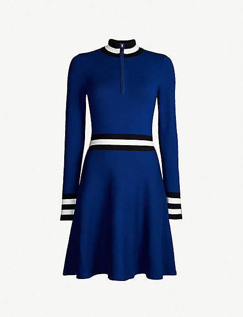 30ae17e9092 KAREN MILLEN Sporty high-neck knitted dress
