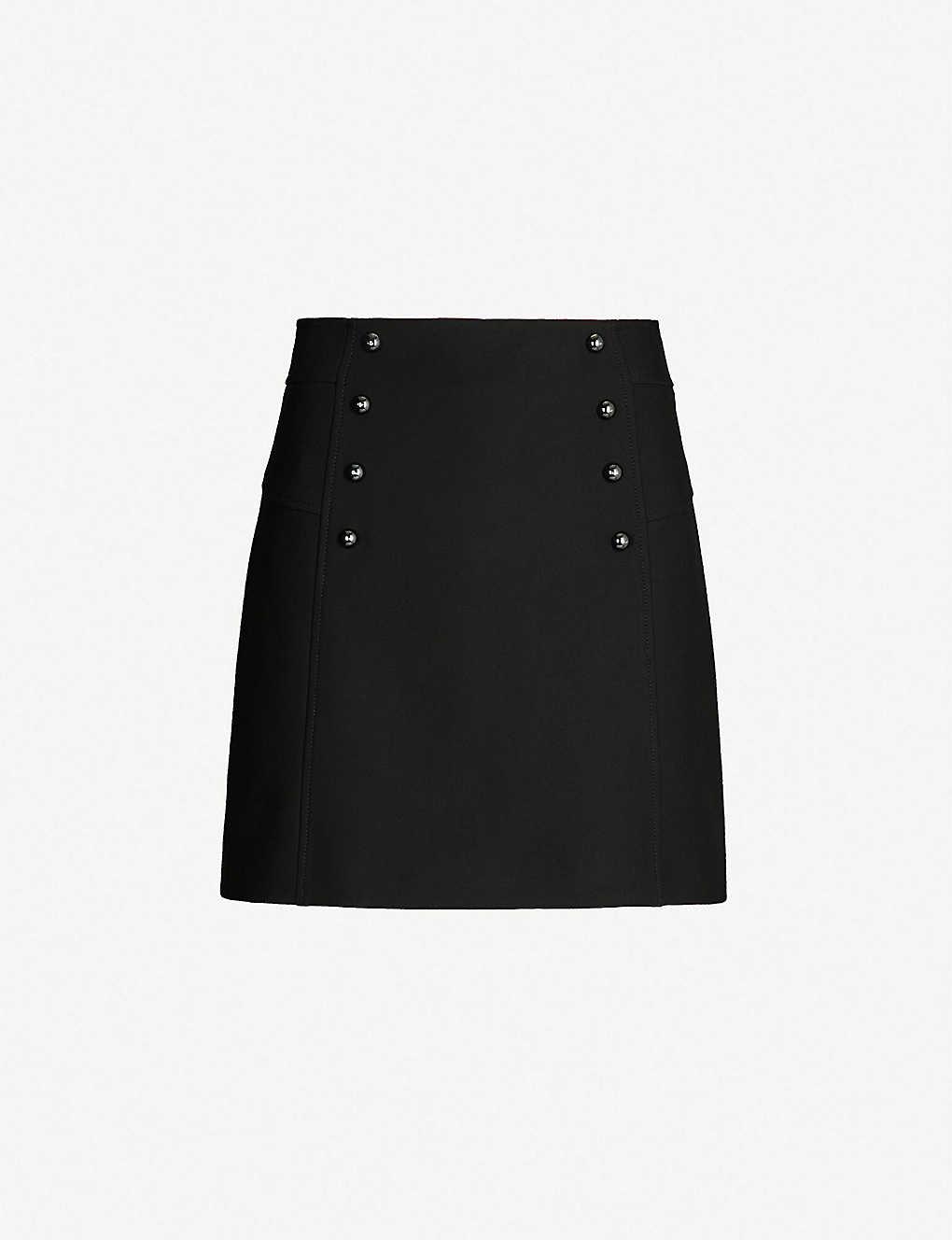 2957f7354 KAREN MILLEN - Button-detail stretch-cotton skirt | Selfridges.comm