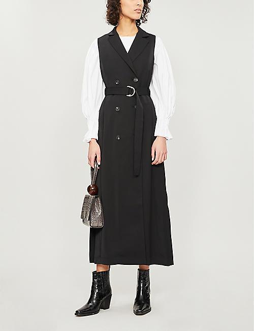 a719d17ae4 KAREN MILLEN Tuxedo belted crepe maxi dress