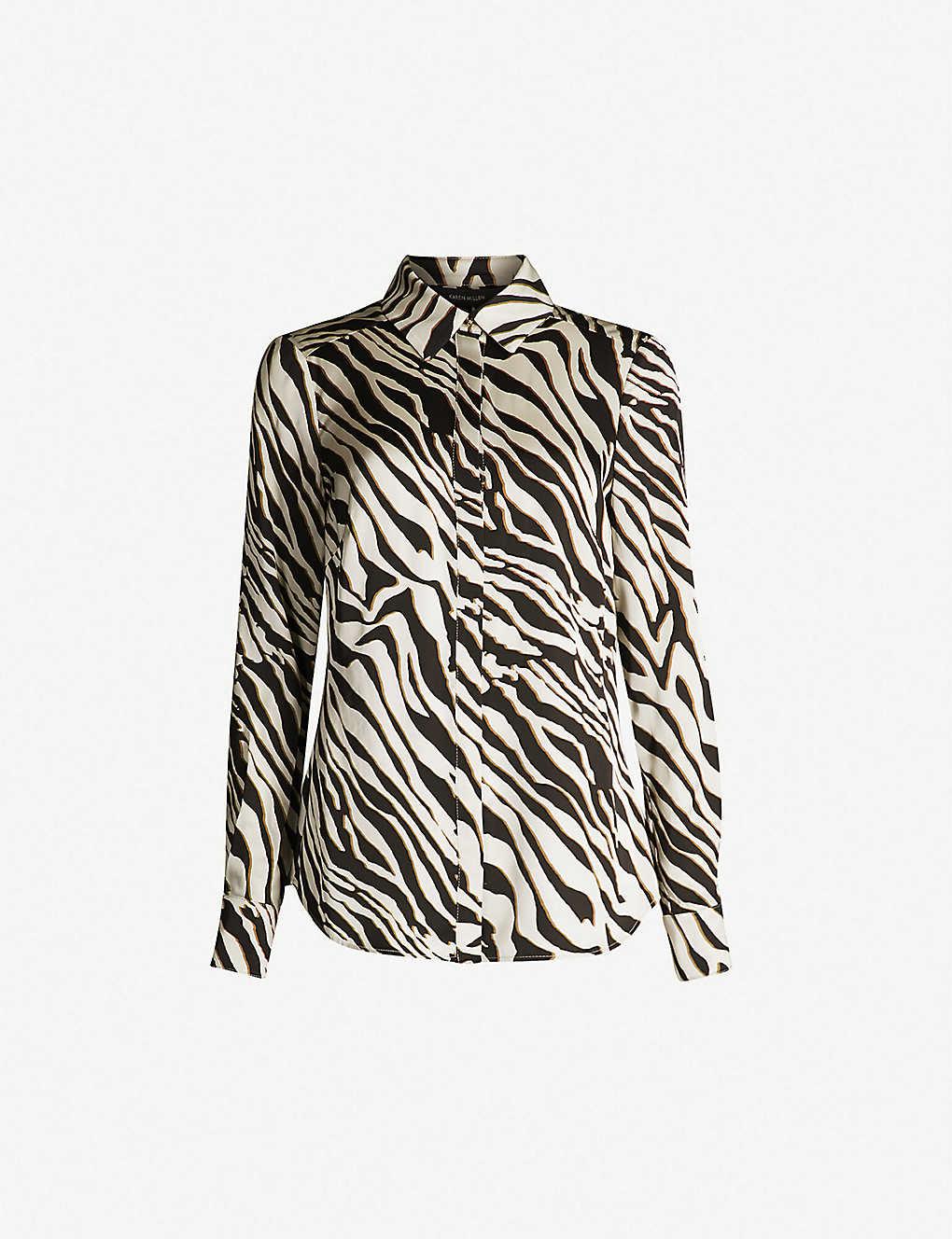 71b037bc7639 KAREN MILLEN - Zebra print crepe shirt | Selfridges.com