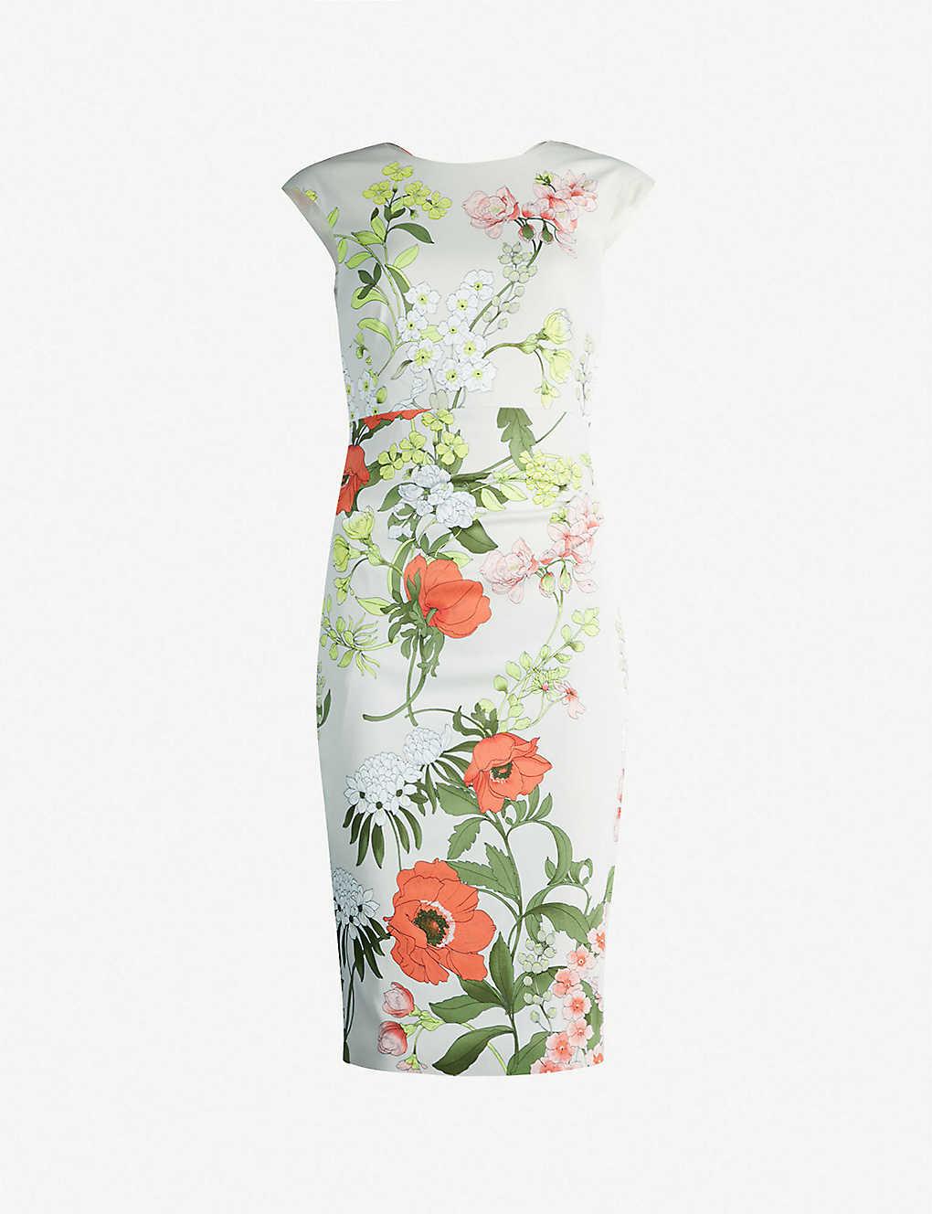 9098d803a KAREN MILLEN - Botanical print sheath dress   Selfridges.com