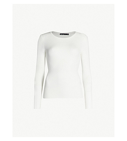 Karen Millen Knits Ribbed stretch-knit sweater
