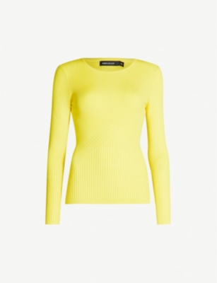KAREN MILLEN Ribbed stretch-knit jumper