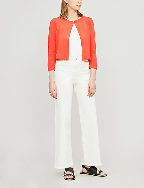 KAREN MILLEN Essential round-neck knitted cardigan