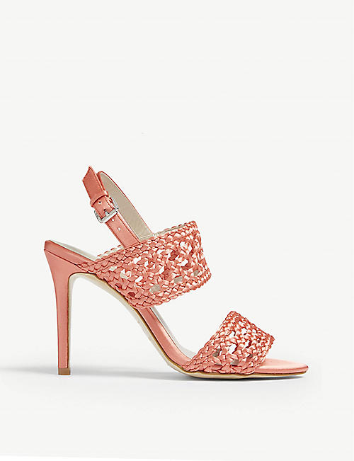 26e32cb1fb56 Patent leather court heels.  145.00. KAREN MILLEN Woven stiletto-heeled  sandals