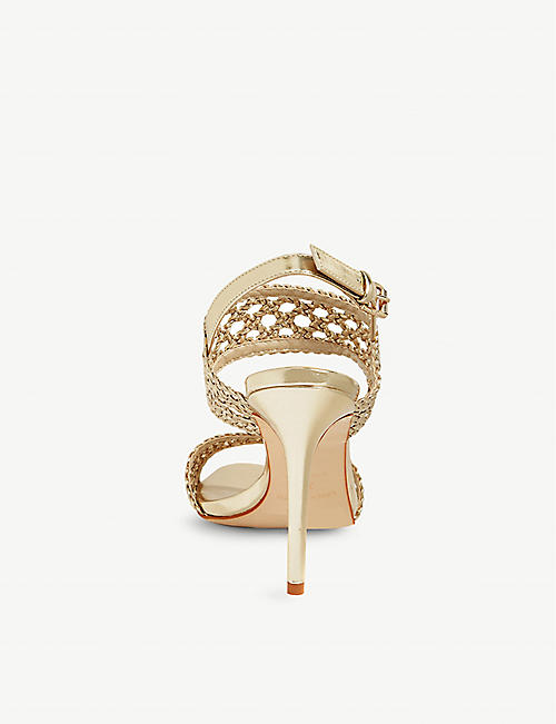 KAREN MILLEN Woven stiletto-heeled sandals