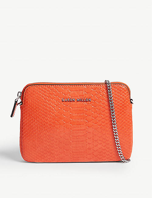 669a2b5a6514 KAREN MILLEN Snake-effect crossbody bag