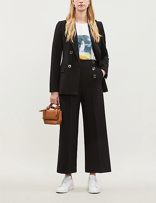 KAREN MILLEN Double-breasted crepe blazer