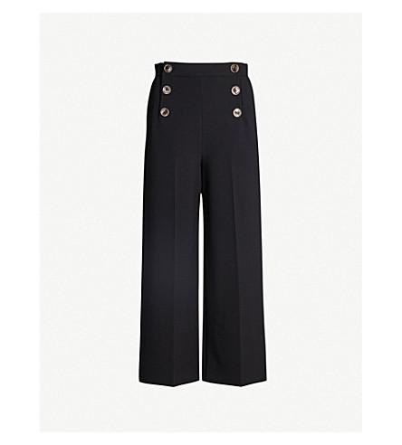 Karen Millen Pants Wide-leg high-rise cropped pants
