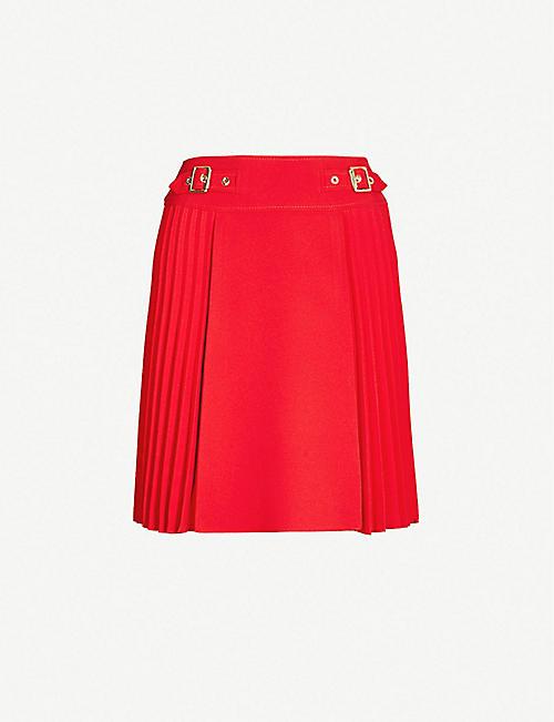 b4c9aea8fd KAREN MILLEN Pleated crepe mini skirt